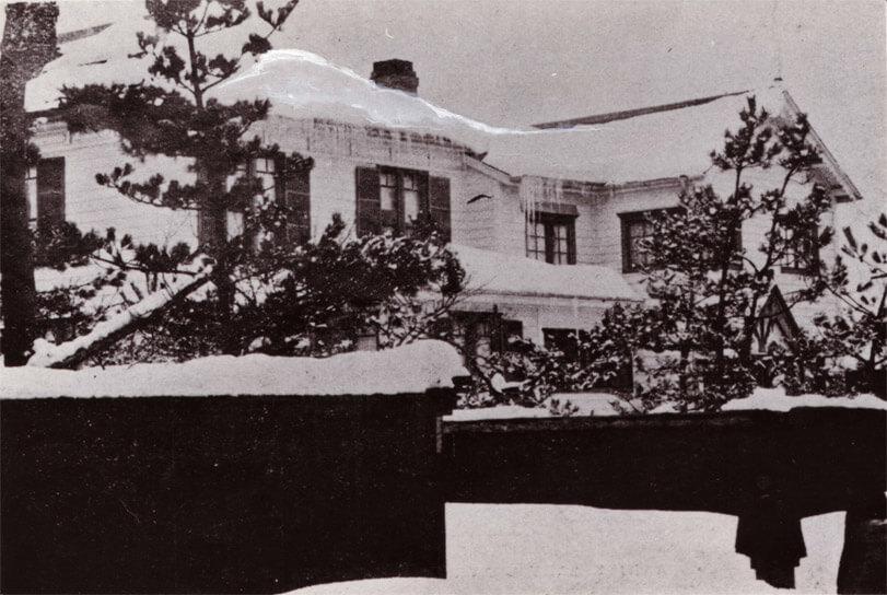 画像:宣教師館の中に開設された秋田幼稚園